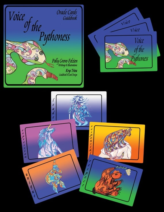 Oracle Card Deck & Guidebook: Voice of the Pythoness