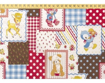 Kokka Retro Patchwork fabric