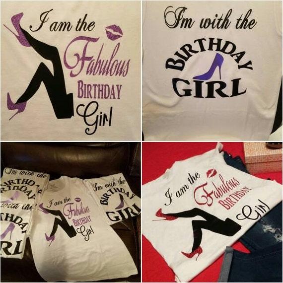 Fabulous Birthday Girl Custom Shirt Bling Birthday by ...