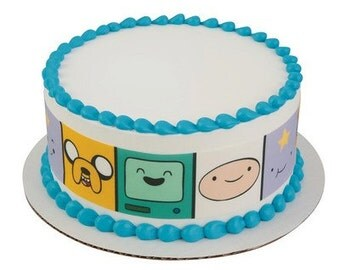 Adventure Time Jake, Finn, & Friends Edible Cake Side Prints