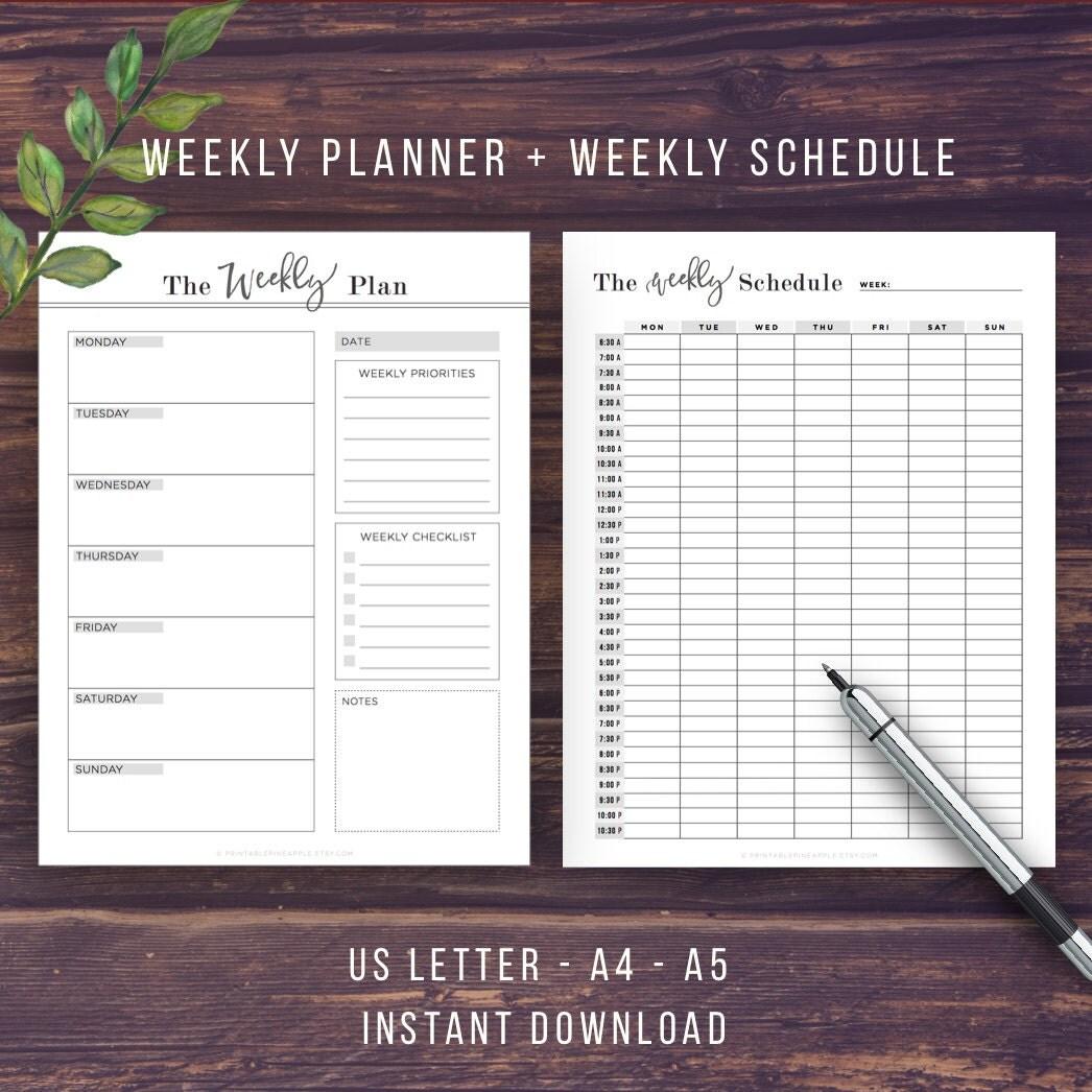 Daily Planner Printable Inserts BUNDLE Life Binder Weekly