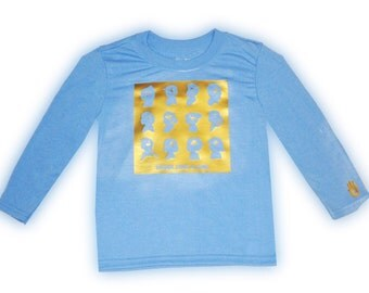 Think Like A Girl Long Sleeve T Shirt Light Blue Sizes 2 to 4