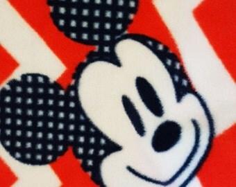 Fleece Tie Blanket- Mickey Mouse Blanket- Mickey Mouse baby blanket- Mickey Mouse Fleece