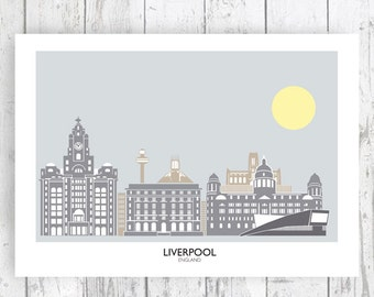 Liverpool, England. Art Print/Poster. PLUS FREE POSTAGE!