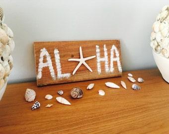 Aloha Starfish Handmade Sign