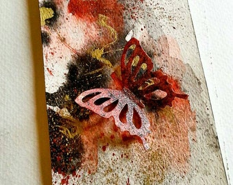 Custom Original Handmade Abstract Bookmark