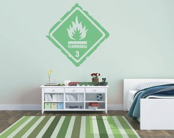 Flammable Graphic Wall Art