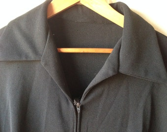 Plus size vintage black pleated dress goth