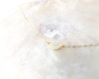 Creacent moon necklace