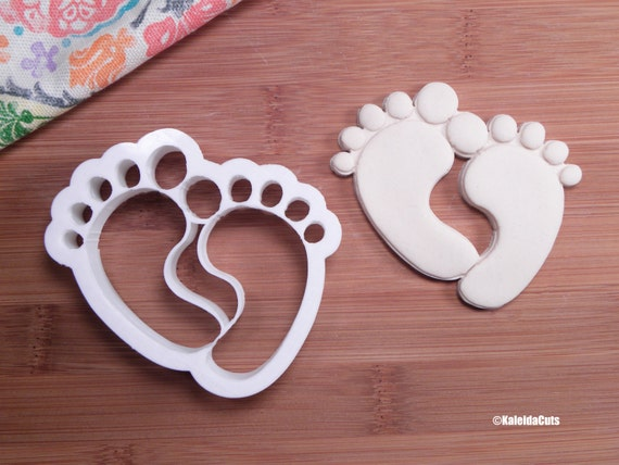 baby feet cookie cutter baby shower cookie cutter 3d printed baby