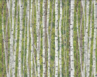 Landscapes Silver Birch Green 1355 G