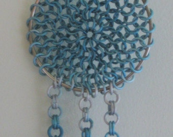 Blue Fade Chain Mail Dream Catcher