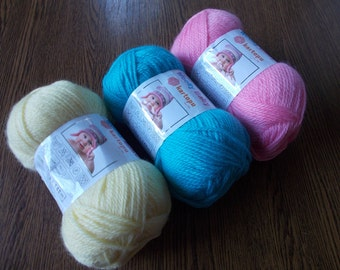 Baby wool yarn, baby yarn, hypoallergenic yarn,  wool blend, turkish yarn, winter yarn, yarn for sale, knitting yarn, crochet yarn