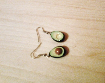 Avocado dangle earrings