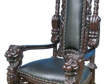 King Lion Throne Chair