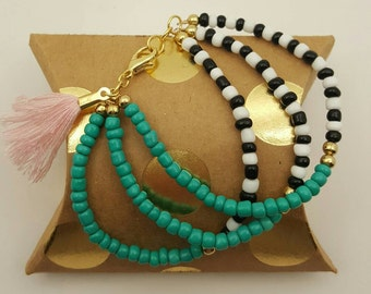 Turquoise Three Piece Bracelet