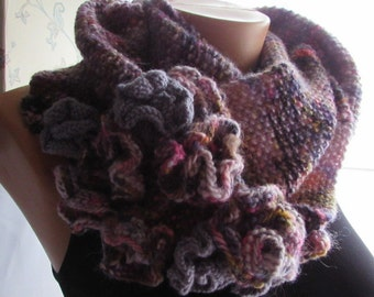 Hand Knitted Scarf Heather Tapestry