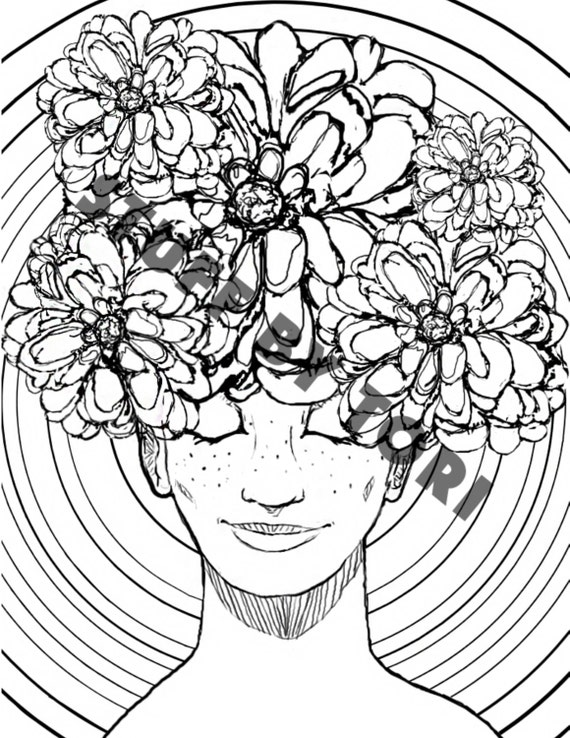 cool flowers coloring pages - photo #27