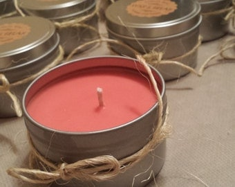 APPLE-CINNAMON 100% Natural Soy Candle, 4 oz