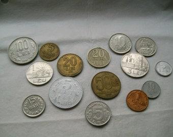 Romanian coins,different coins, metal coins,numismatic, collectors, collectibles objet, vintage money,