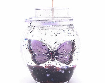 Gel Candles, Forever Butterfly Gel Candle, Refill the tealight, Keep the candle forever! Over 20 scents to choose from.