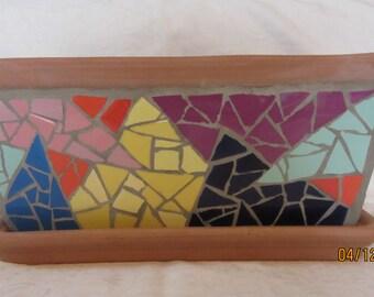 Mosaic flower pot/Mosaik Blumentopf