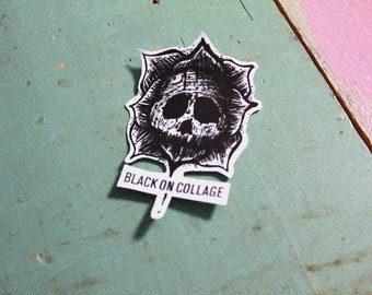 REALLY UGLY Sticker - Black & White, Darkness, Skull, Ugly, Monster, Flower, dots and lines, blood, Vinyl sticker, Rock