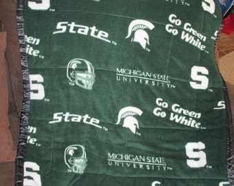 Soft and Cuddly Baby Michigan State Quilt