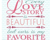 Love Story Svg Valentine Svg Wedding Svg Love Story Quote Svg Files Svg Eps Dxf Jpeg Svg Files for Cricut Silhouette Svg Files for Cameo
