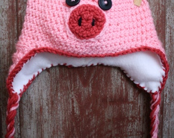 Toddler Size Piggy Hat