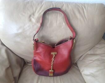 Beautiful bag CHLOE Vintage of bordeaux/Brown.
