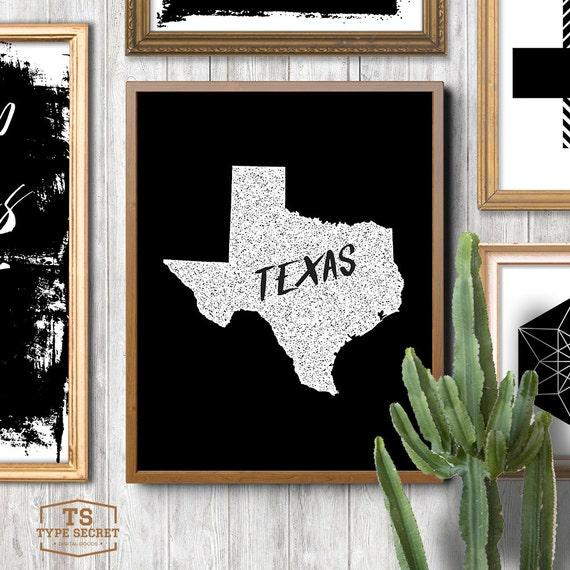 Texas Home Decor: TEXAS Home Decor Texas Wall Decor Texas Wall Art Texas State