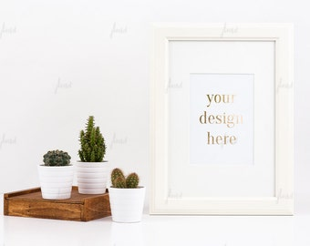 Styled Stock Photography - White Styled Frame - Print Display - Frame Mockup - 0018