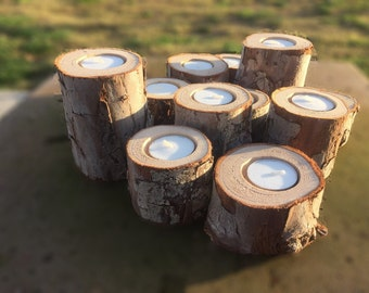 12 Tree Branch Candle Holders