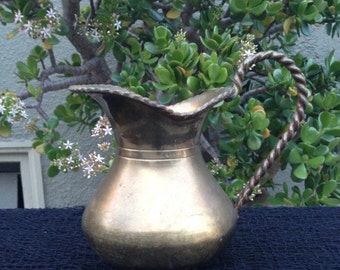 Vintage Decorative Brass Pitcher