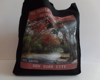 All People Will Travel Photography Sri Lanka Tote Bag - 009 - BLACK