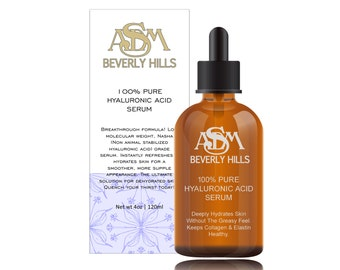 Anti Aging Serum with Hyaluronic Acid 4oz- Cruelty Free