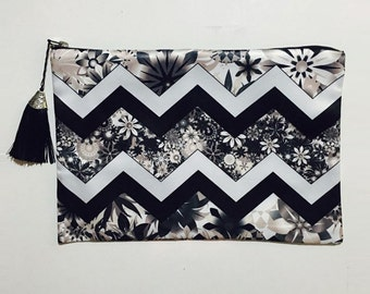 Chevron Tassle Clutch Free Shipping