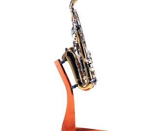 Wooden Saxophone  Floor Stand