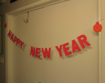 Vintage NYE Banner; Vintage Party Decorations; Vintage New Years Eve