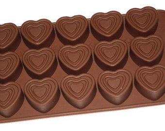 Taavi Triple Heart Silicone Candy Mold (T-819)