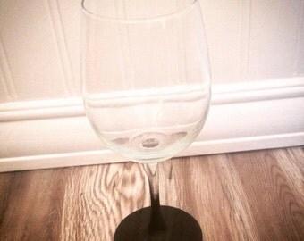 Chalk board wine glass
