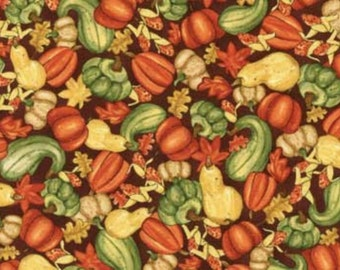Red Rooster Happy Harvest 23332 Brown, 44-inch Wide Cotton Fabric  **Half Yard Cuts**