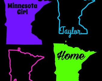 Minnesota Decal Etsy - Custom vinyl decals minnesota