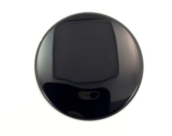 30 mm Round Flat back Black Onyx Gemstone