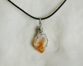 Citrine Crystal Pendant