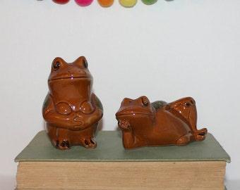 Vintage Frog Toad Japan Salt and Pepper Shakers