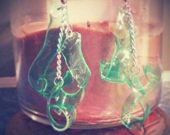 Recyled Dangle Earrings