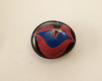 Glass Magnets - lips and heart designs