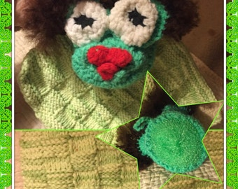 Mrs frog scrubby and dish cloth